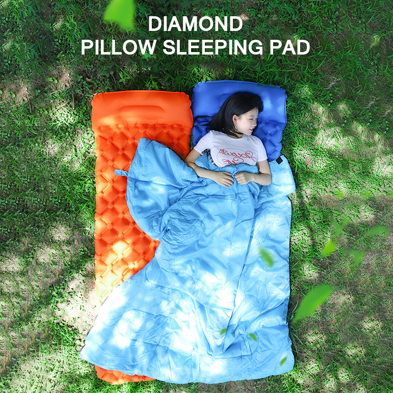Sleeping Mat Sleeping Pad Comfortable Camping Inflatable Lounger Sofa Mat With Pillow Sleeping Cushion Portable Sponge Mattress Products Are Sold Without Limitations