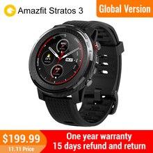 Amazfit ستراتوس 3 smartwatch ساعة رياضية لتحديد المواقع الرجال والنساء معدل ضربات القلب مقاوم للماء 19 وسائط الرياضة