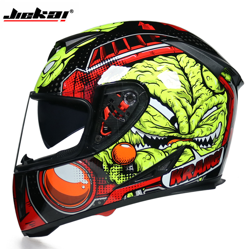 DOT Motorcycle Helmets Double Lens Racing Safety mountain full face helmet Moto Helmet moto cross casco casque capacete-in Helmets from Automobiles & Motorcycles    1