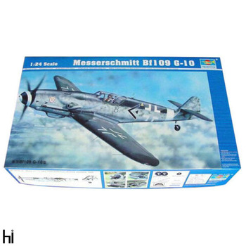 Trumpeter 02409 1:24 German Messerschmitt BF 109 G-10 Fighter Plane Aircraft Military Assembly Plastic Model Building Kit image