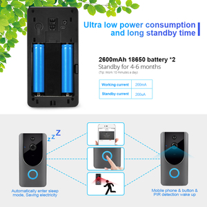 Image 5 - FUERS 720P WIFI Doorbell Camera Smart Wireless Video Intercom Camera Doorbell IP Doorbell Camera Two Way Audio Cloud Storage