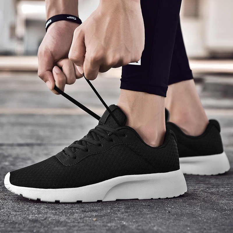 REETENE yeni örgü erkekler rahat ayakkabılar erkekler yüksek kaliteli koşu erkek spor ayakkabı hafif nefes erkek ayakkabıları artı boyutu 39-48