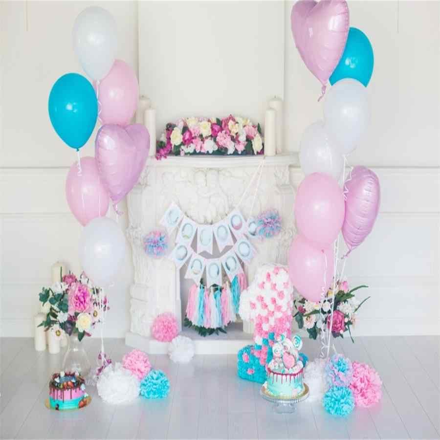 1st balão de fundo de fotografia para aniversário, festa de aniversário, flor, urso de brinquedo infantil, decoração, chamada de fundo para estúdio de fotos