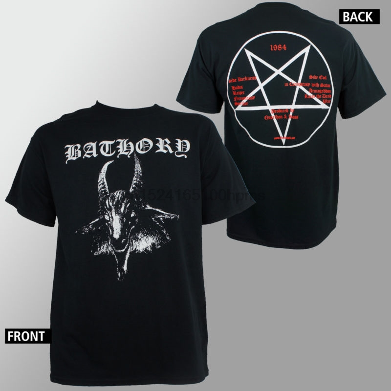 Authentische Bathory Ziege Pentagram Logo Metall <font><b>T</b></font> <font><b>Shirt</b></font> S <font><b>M</b></font> L Xl Neue 010144 image