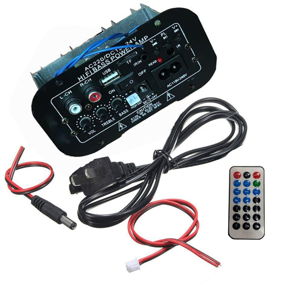 Multi-Functional Car Bluetooth Amplifier HiFi Bass Power AMP Stereo Digital Amplifier USB TF Remote For Car Home Accessories