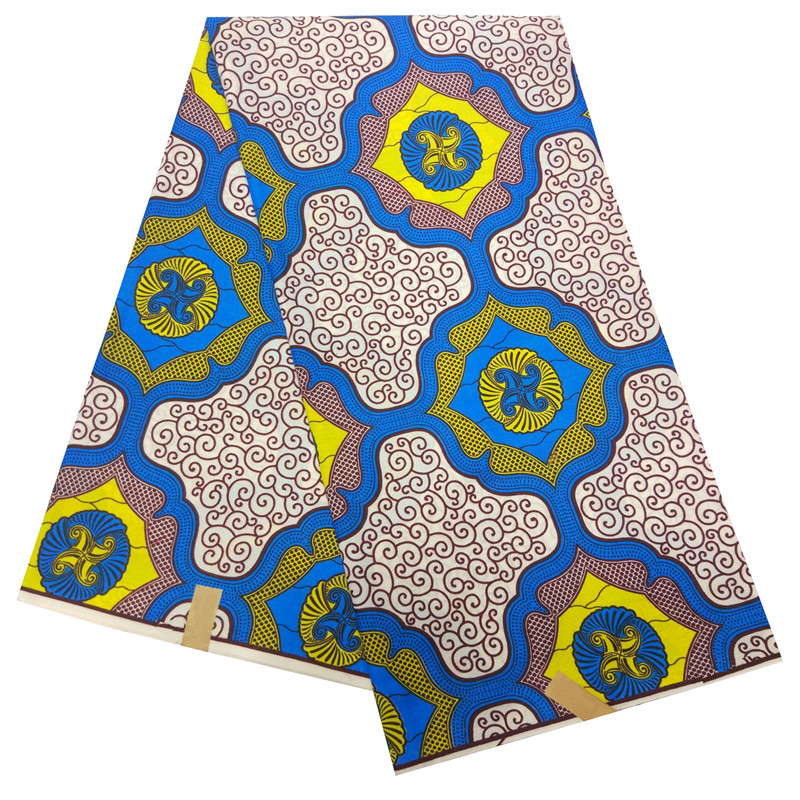 2019 Africa Ankara Prints Fabric Guaranteed Real Dutch Wax Top Quality Africa Print Fabric For Party Dress 6yards