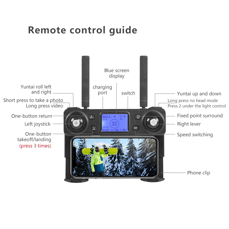 Closeout Deals5G Drone GPS K20 Foldable Four-Axis-Professional-Grade 4K Electric-Adjustment-Camera