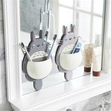 High Quality Toothbrush Holder Cartoon Wall Mount Sucker  Rack Children bathroom set Accessories
