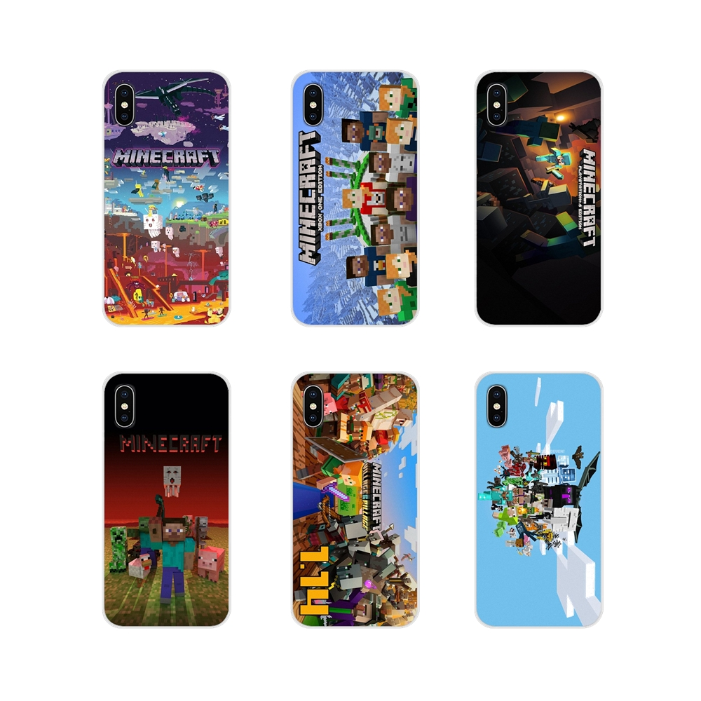 Mobile Phone Skin Case For Apple iPhone X XR XS MAX 4 4S 5 5S 5C SE 6 6S 7 8 Plus ipod touch 5 6 fashion game Group of Minecraft image