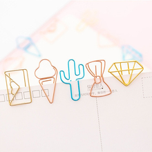 10pcs/pack Hollow Paper Clip Available In A Variety Of Colors And Styles Small Office Study Suppiles
