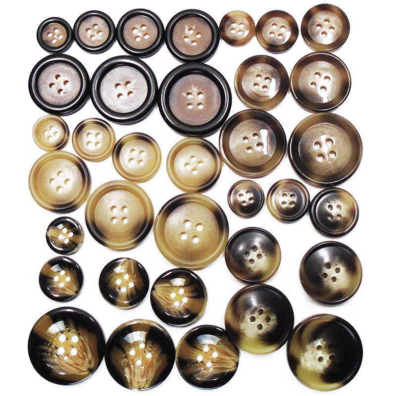 50PCS 25mm Buttons Large Resin Buttons for DIY Sewing Tailor Crafts Coats Clothes Buttons Coffee Color with Pattern