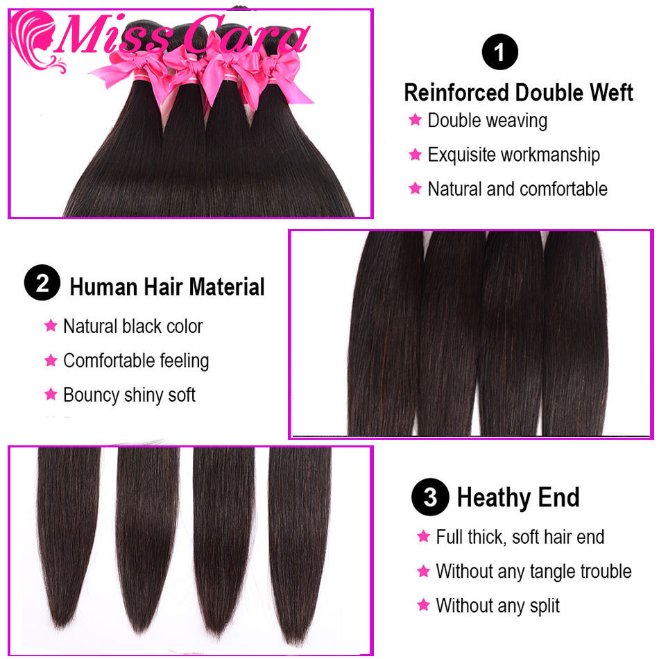 Peruvian Straight Hair Bundles With Frontal Miss Cara 100 Remy Human Hair 3 4 Bundles With Peruvian Straight Hair Bundles With Frontal Miss Cara 100% Remy Human Hair 3/4 Bundles With Closure 13*4 Frontal With Bundles