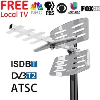DVB-T2/DVB-T Outdoor TV Antenna For HDTV TDT Digital TV Tuner Amplifier HD ATSC ISDB-T DVBT2 DVB-T UHF Antena 150 MILES RANGE