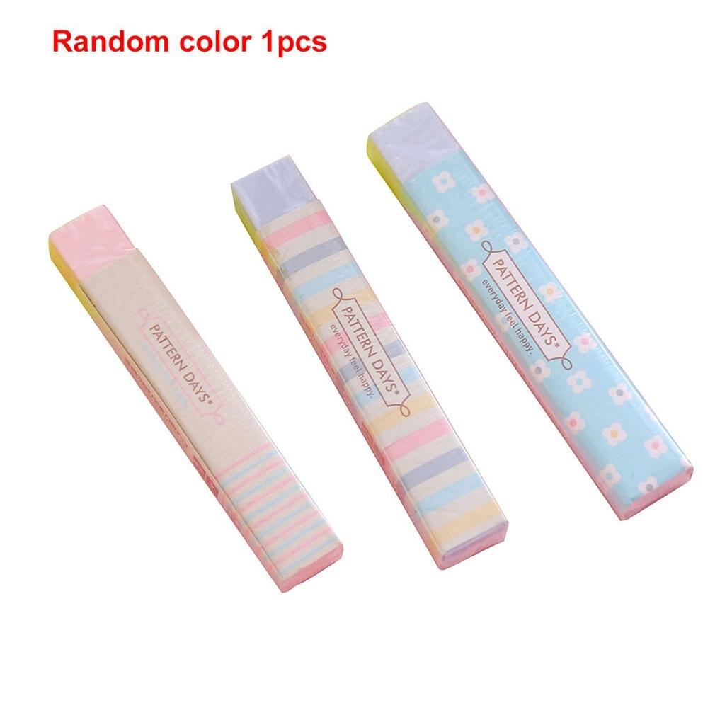 5PCS Creative Student Prizes Cute Fresh Strip Eraser School Supplies Stationery Kindergarten Children Birthday Gift