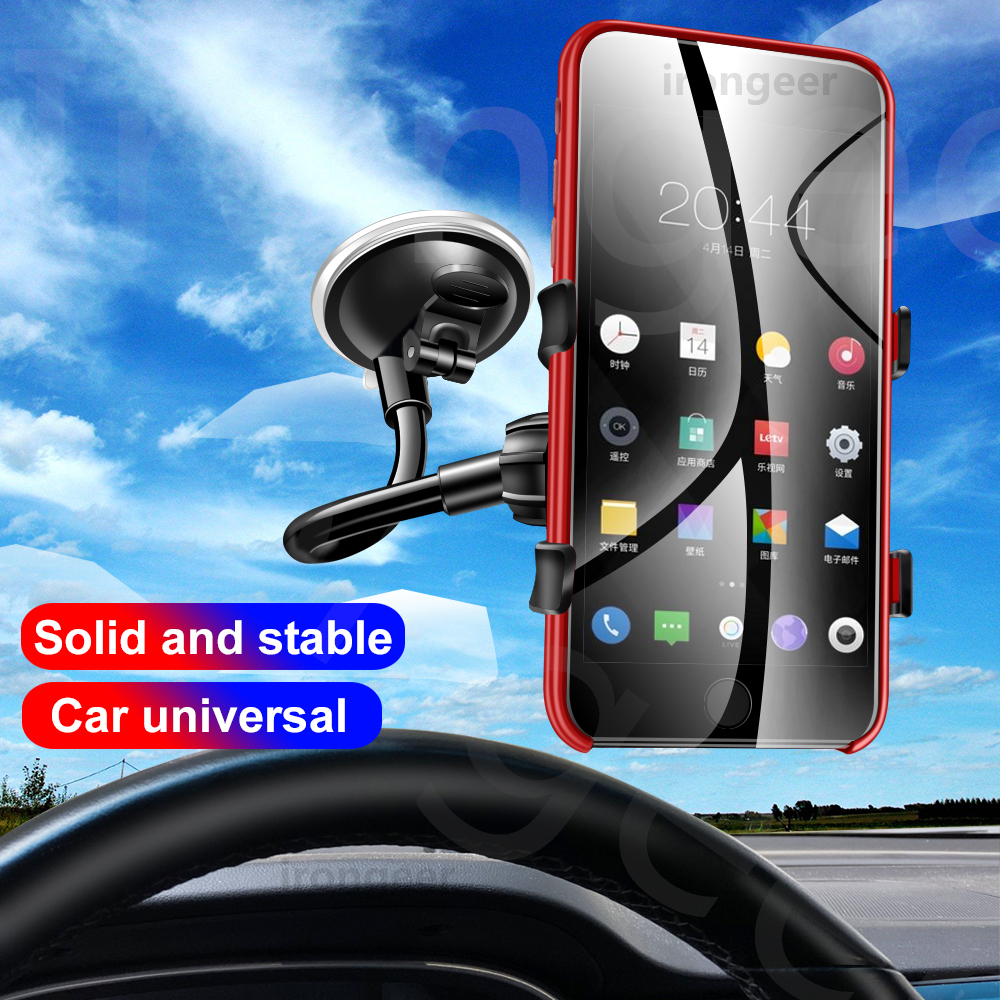 Car Phone Holder 360 Degree Rotation Car Mount Windshield Clamp For Samsung For Iphone Universal Mobile Cell Phone Stand GPS