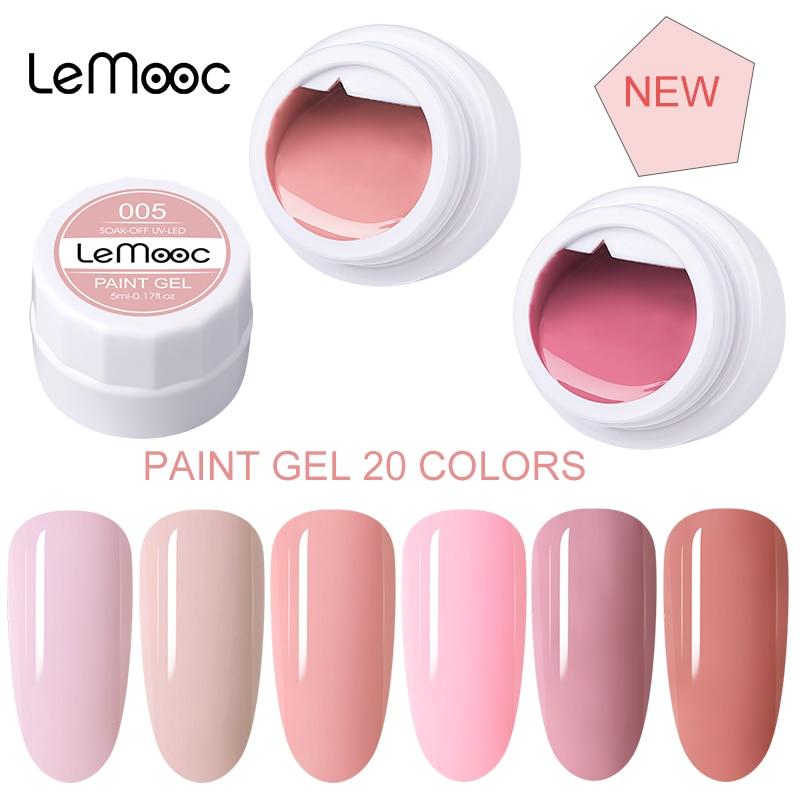 УФ-Гель-лак LEMOOC для ногтей, 5 мл, 20 цветов