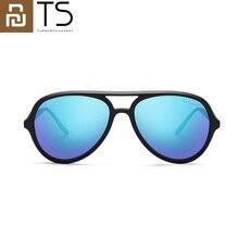 Youpin ts gelo azul aviador óculos de sol polarizados lente homem e mulher para viagens de verão