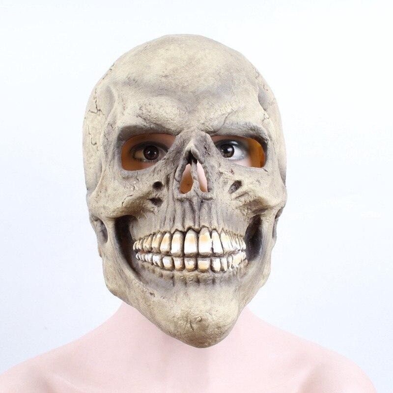Хэллоуин Череп Из Латекса маска Страшные Вечерние наряды реквизит Хэллоуин маскарадный костюм