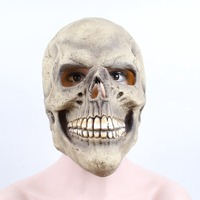 Halloween Skull Latex Mask Scary Party Dress Up Props Halloween Masquerade Costume