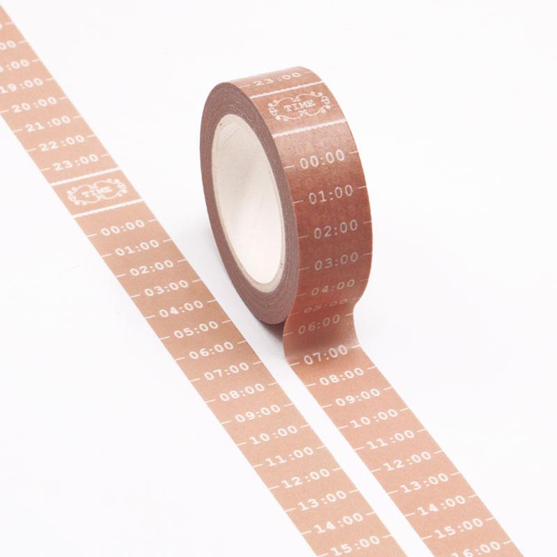 10m Time Plan Bullet Journal Washi Tape Adhesive Tape DIY Scrapbooking Sticker Label Japanese Masking Tape