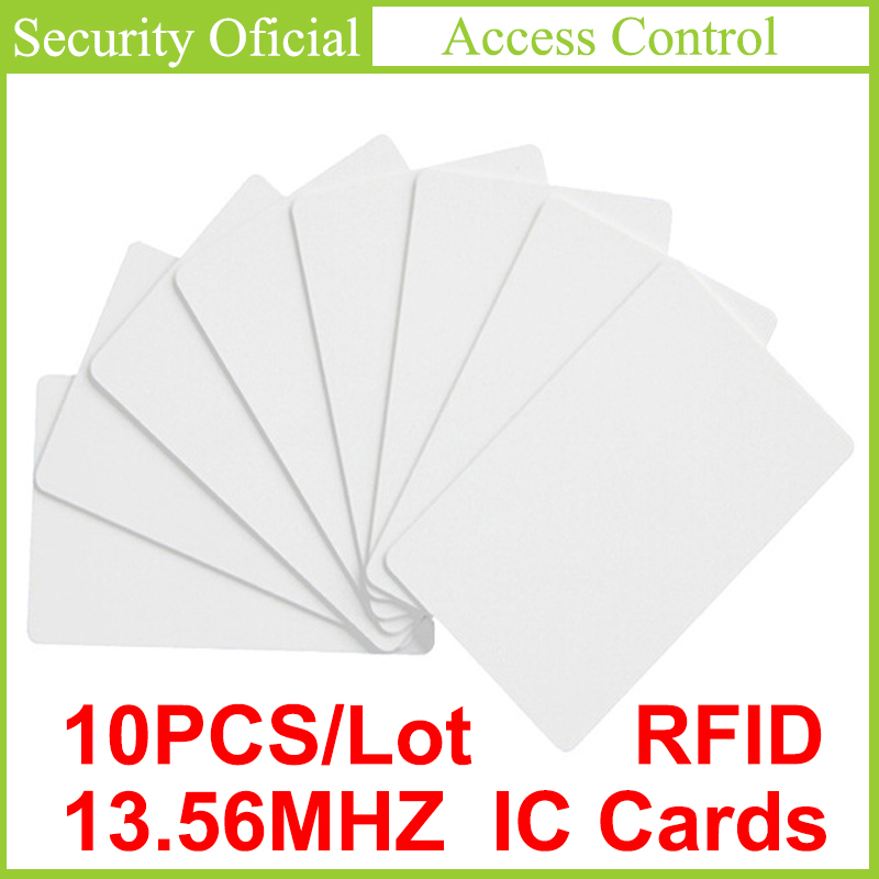 13.56 MHz Non-contact IC Card High Frequency RFID Key Tag Access Control Card White PVC Elevator Card Access Attendance NFC Card