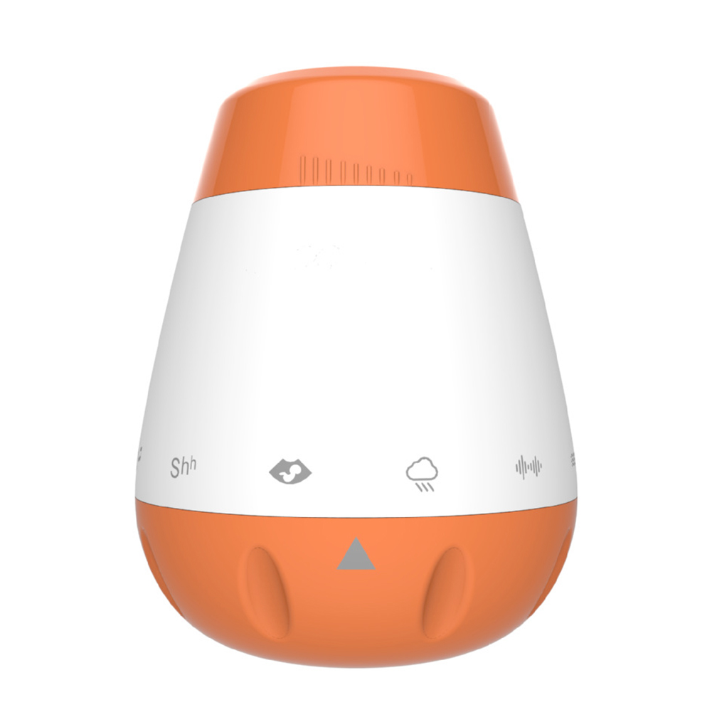 Portable Rechargeable White Noise Music Sleep Soother Therapy Sound Machine Smart Infants Baby Voice Sensor