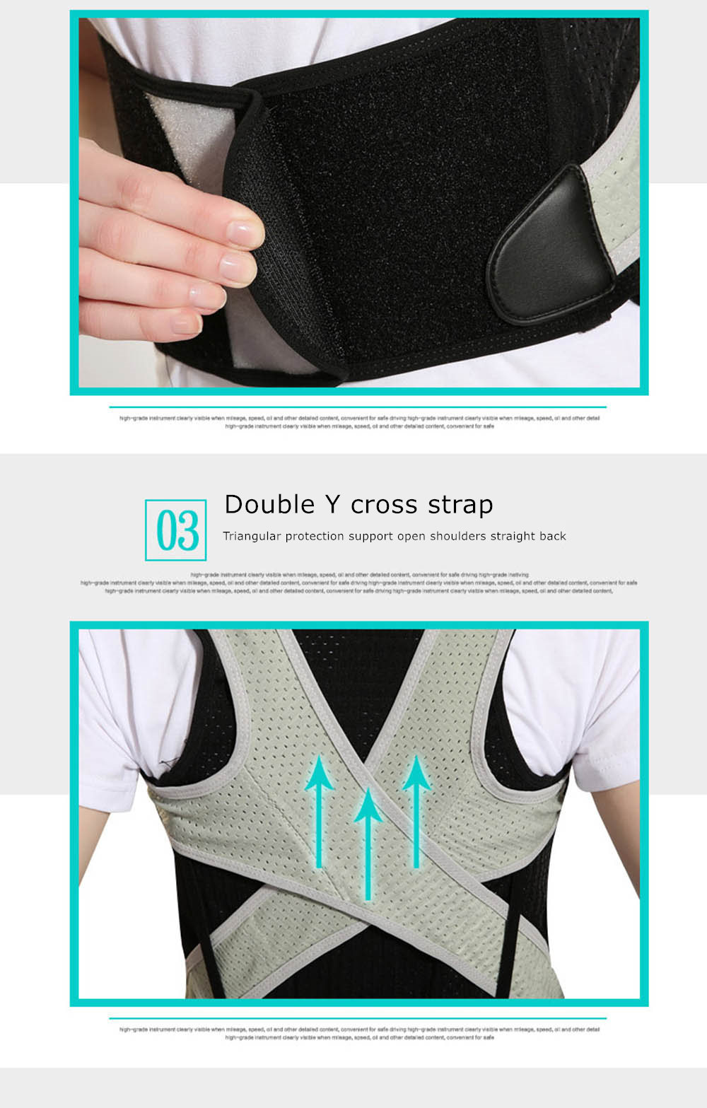 Tlinna Posture Corrector Belt with Adjustable Dual Strap Design to Get Perfect and Confident Body Posture Suitable to Wear Under or Over Clothing 31