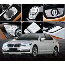 New G30 Steering Wheel Multimedia Panel Button Stickers Trim Cover For BMW 5 Series G30 G31 2018-2019 Car Accessories ABS Chrome