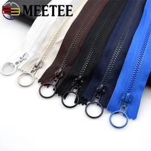 10pcs 3# Meetee resin zipper 25cm Closed and 60cm open-end zippers for DIY craft sewing bag garment  accessories 15 colors A1-1
