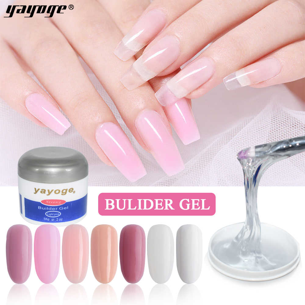 YAYOGE Poly Gel 56Ml LED UV Acrylic Gel 7 Warna Cepat Bangunan Gel Cat Kuku untuk Kuku Ekstensi Jelly gel Polish Nail Art