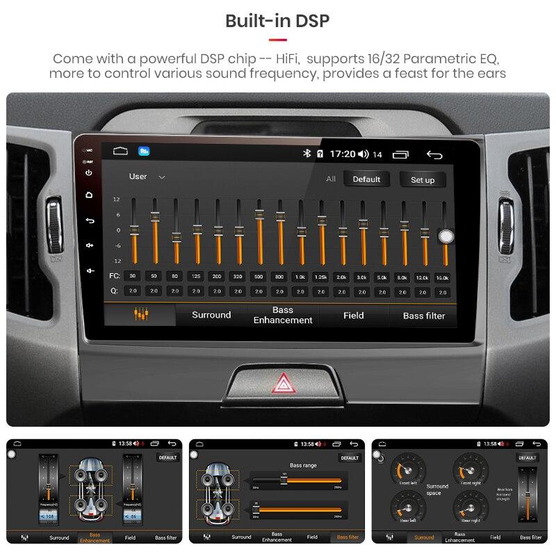 Junsun V1 pro 4G + 64G Android 9,0 DSP для Kia sportage 3 4 2010 2011-2015 2016 автомобильный Радио Мультимедиа Видео плеер gps 2 din dvd