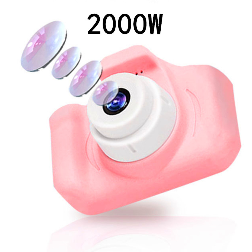 Kids Camera 2000W Cute Children's Camera With 16GB TF Card Waterproof 1080P HD Screen Camera Video Toy Outdoor Photography 5