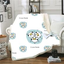 Мультяшное одеяло шерпа Рождественский подарок панда Флисовое