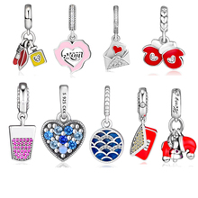 Beads 100% 925 Sterling Silver Festive Stocking &Glove Ice Cream Love letter Mon Glamour Trio True Arc Bright Heart Clutch Charm