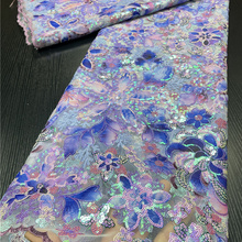 Lace-Fabric Tulle Sequins Nigerian French High-Quality African PGC for Garment Sewing