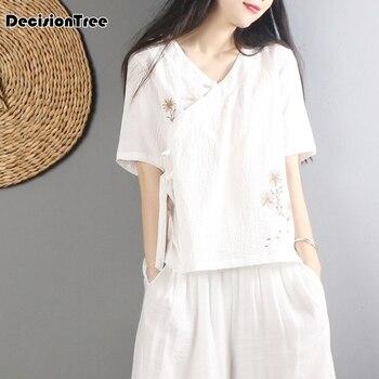 Hanfu chino de estilo chino de 2020 para mujeres, camisa China superior, camisa tradicional de estilo chino para mujeres, traje tang, blusas chinas