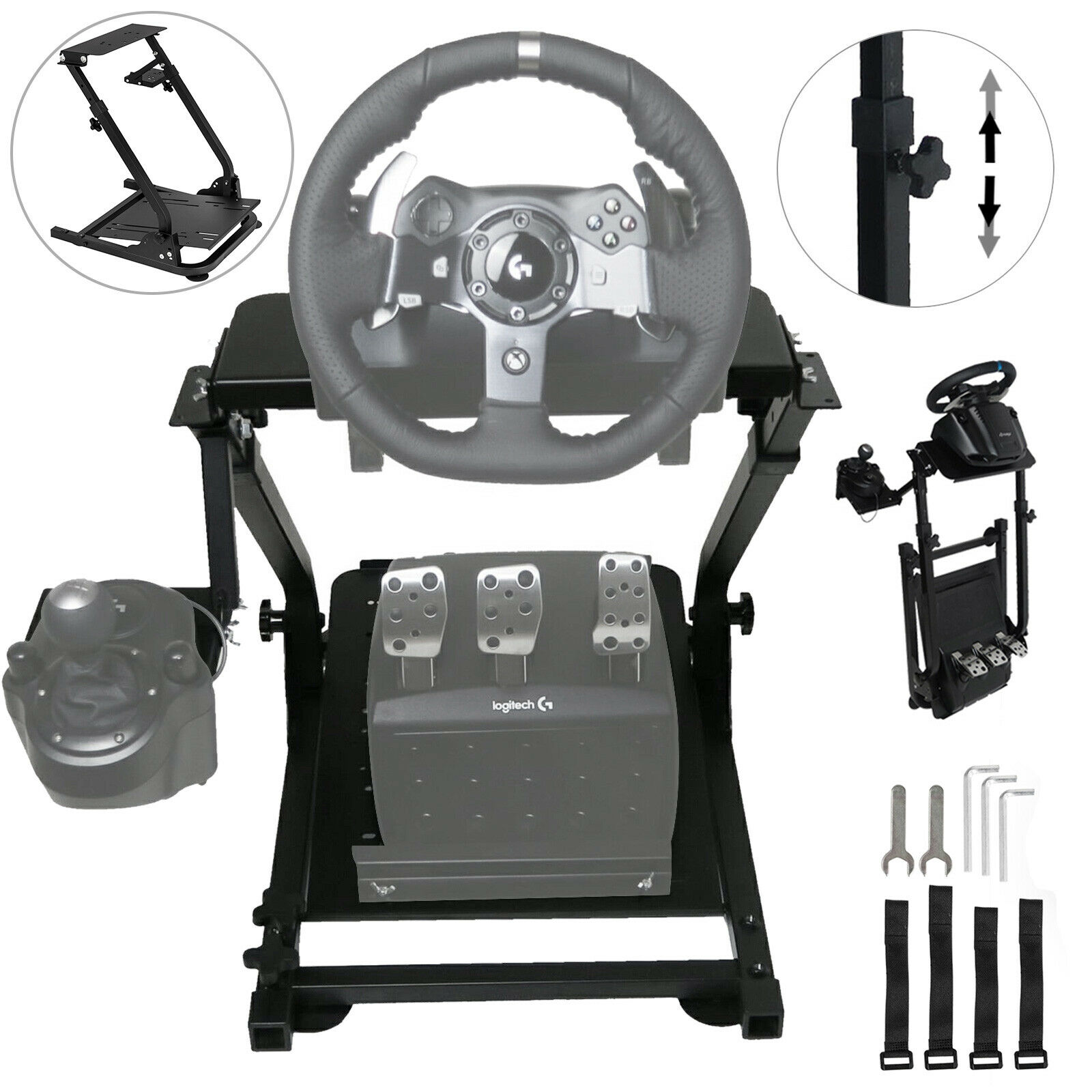 Self-Career Race Steering Wheel Support For Logitech G25 G27 G29 And G920 Folding Steering Wheel Stand Does Not Include Steering