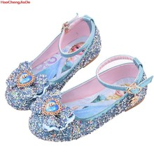 Toddler girls leather shoes kids else dancing and party shoes for girls spring outwear flat shoes 2~11 years old girl(China)