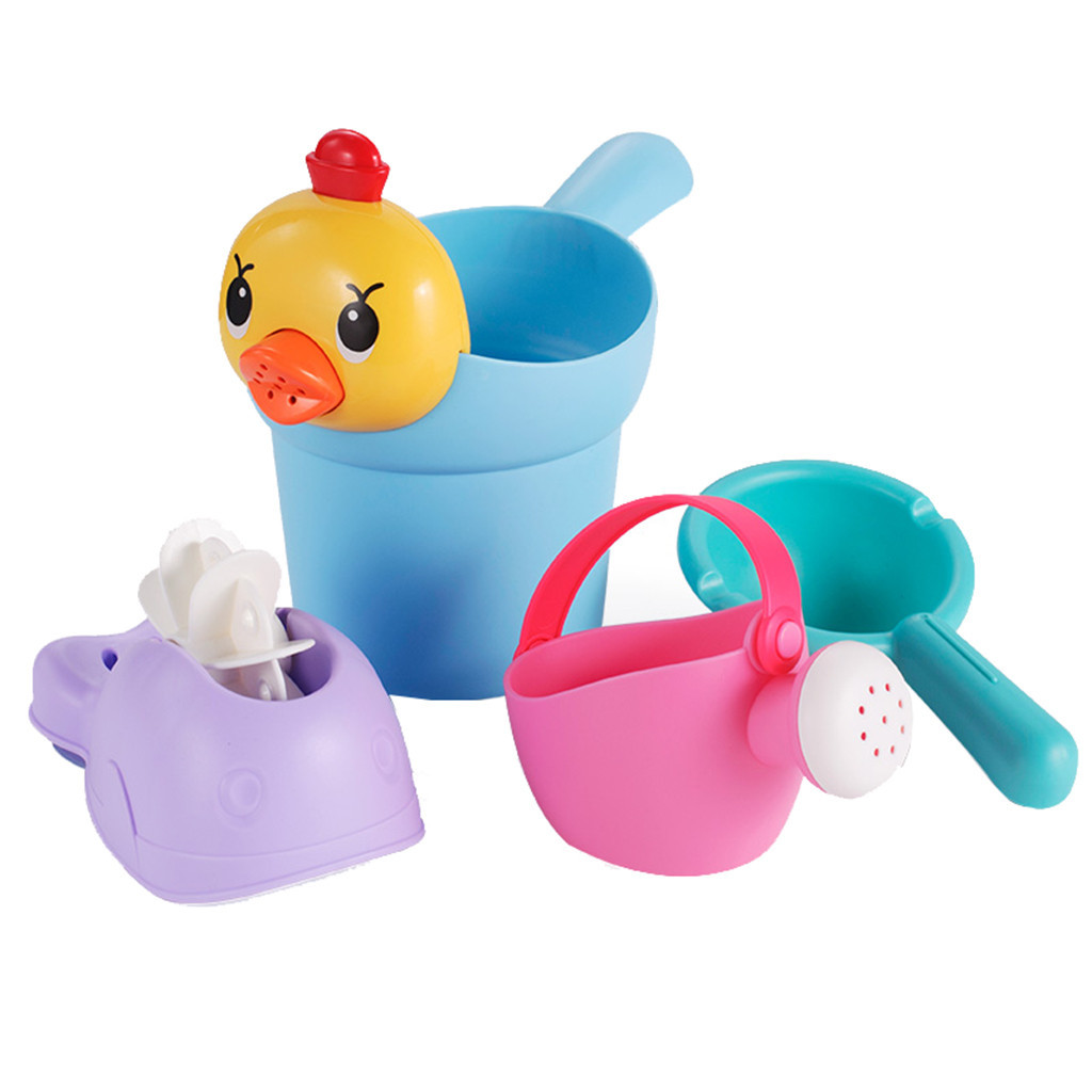 Fun Education Bathtub Children's Baby Shower Toy Gift Set Family Bath Toy Kids Sand Beach Toys Molds Fun Tools #B