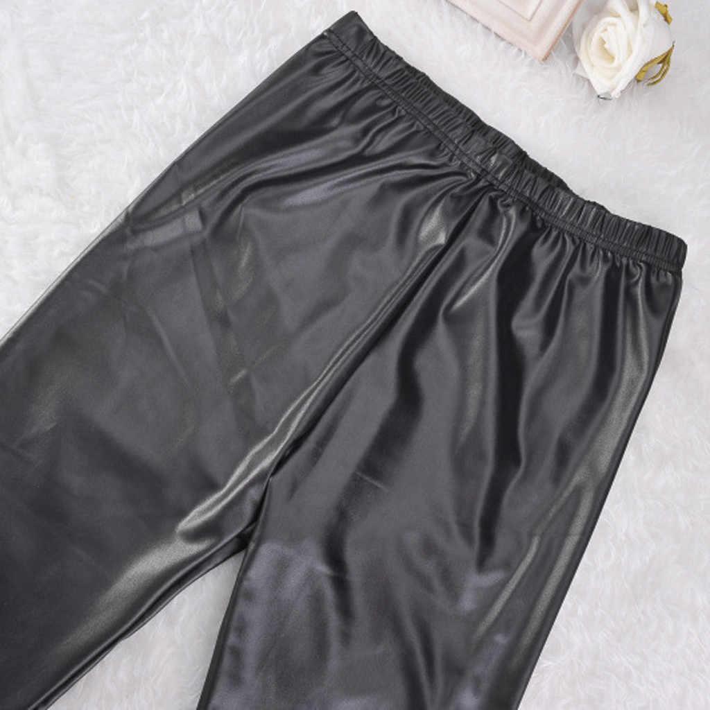 2019 秋 PU フェイクレザーレギンスの女性の黒のスキニーパンツ女性韓国スリム女性プラスサイズ鉛筆レギンス S-4XL