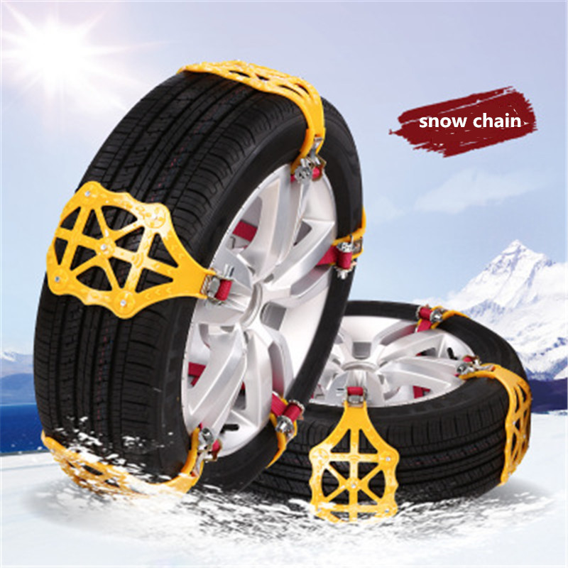 1/3PC Car Snow Chains Anti-skid Tyre Wheel Emergency Chain Snow Ice Sand Mud Climbing Road Safety Auto SUV MPV Winter Driving image