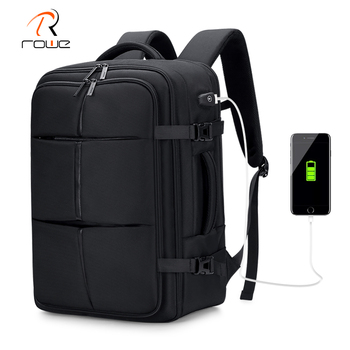 Rowe Business Casual Men Backpack Large Capacity 17.3 Inch Laptop Backpacks Multi-layer Waterproof USB Charging Travel Bag New frn business usb charging bag men 17 inch laptop backpack waterproof high capacity mochila antitheft casual travel backpack bag