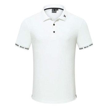 Nowe męskie koszule golfowe sporty outdoorowe z krótkim rękawem odzież golfowa sportowa koszulka polo tanie i dobre opinie HQBWill COTTON SILK Poliester Mikrofibra spandex Anty-pilling Anti-shrink Przeciwzmarszczkowy Oddychające Szybkie suche