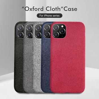 Tissus en peluche de luxe couverture arrière souple pour iPhone 11 Pro MAX étui coton lin tissu étuis de téléphone pour iPhone X 8 7 6 6S Plus Coque