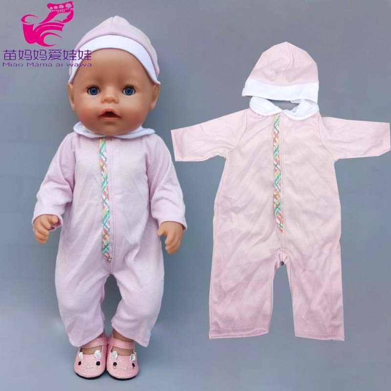 Pijama genel 43cm 40cm bebek yeni doğan oyuncak bebek giysileri çocuk kız oyuncakları kıyafetler