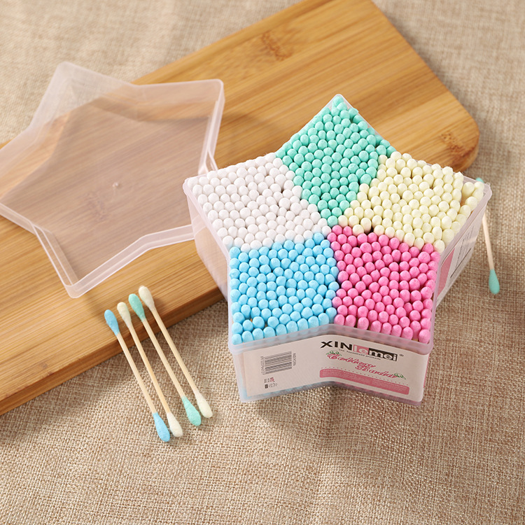 500PCS/SET Baby Cotton Swab Stick Head Ear Buds Cleaning Tools New Hot Selling Cosmetic Makeup image