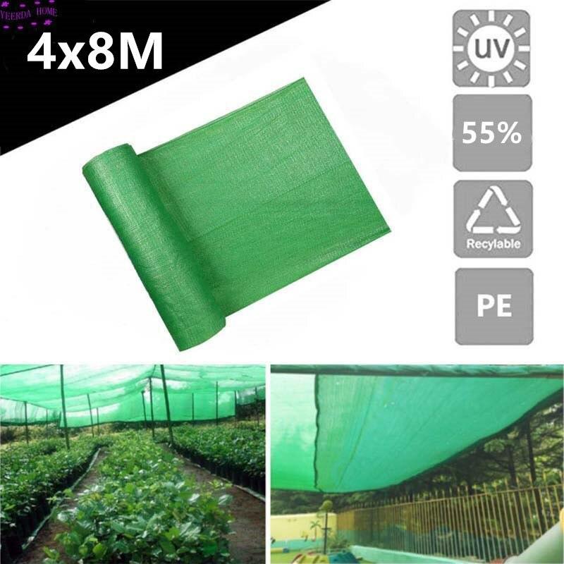 4*8 м 55% Солнцезащитная ткань для покрытия растений, теплица, сарай, зеленый солнцезащитный чехол для сада, патио, садовый сад, аксессуары DIY|Теневые навесы и сетки|   | АлиЭкспресс