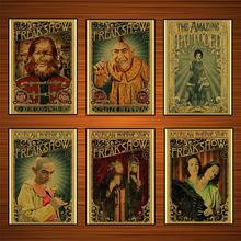 Cartel Vintage de circo de Sideshow, cartel de circo, cartel de pared de cuadros clásicos sobre lienzo de schlitzie the pinhead, pegatinas para decoración del hogar, regalo