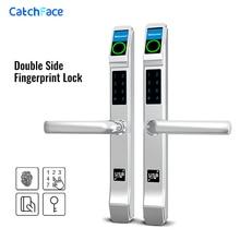 Waterproof Fingerprint Lock Outdoor Gate Lock Iron Gate Lock RFID/Fingerprint /Code Electronic Keyless Double side Lock Garden