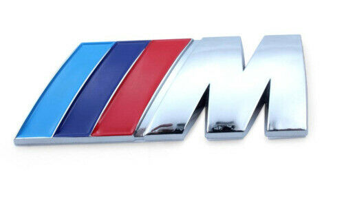 Car Accessories Emblem Badge For BMW M-Power ///M-Power Badge Emblem Sticker Blue Blue Red Metal Logo Sticker Badge